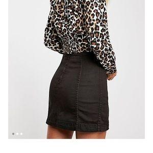 free people modern femme mini skirt sz 6 nwt